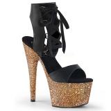 Oro 18 cm ADORE-700-14LG Zapatos plataforma con tacones glitter