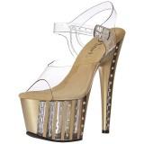 Oro 18 cm ADORE-708VLRS plataforma zapatos de tacón con piedras