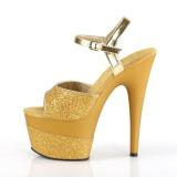 Oro 18 cm ADORE-709-2G brillo plataforma sandalias de tacón alto