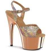 Oro 18 cm ADORE-709HM Zapatos plataforma con tacones glitter