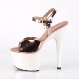 Oro 18 cm ADORE-709LG Zapatos plataforma con tacones glitter