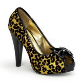 Oro Brillo 12 cm BETTIE-12 Open Toe Plataforma Zapato de Sal�n