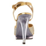 Oro Brillo 12 cm FLAIR-419G Sandalias Femininas Planos