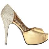 Oro Brillo 14,5 cm Burlesque TEEZE-41W zapatos de salón pies anchos hombre