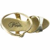 Oro Brillo 16,5 cm Pleaser ECLIPSE-619G Stilettos Tacón de Aguja