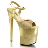 Oro Brillo 20 cm Pleaser FLAMINGO-809-2G Tacones Altos Plataforma
