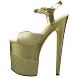Oro Brillo 20 cm Pleaser FLAMINGO-809-2G Tacones Altos Plataforma