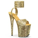 Oro Brillo 20 cm Pleaser FLAMINGO-891LG Tacones Altos Plataforma