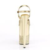 Oro Brillo 23 cm INFINITY-909-2G Tacones Altos Plataforma
