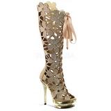 Oro Gamuza 15 cm FANTASIA-2020 botas mujer con piedras strass