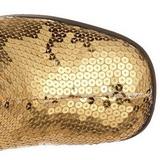 Oro Lentejuelas 8 cm SPECTACUL-300SQ Botas Media Mujer