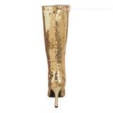 Oro Lentejuelas 9,5 cm FUNTASMA LUST-2001SQ Botas Media Mujer