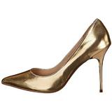 Oro Mate 10 cm CLASSIQUE-20 Stiletto calzado tacones de aguja