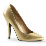 Oro Mate 13 cm SEDUCE-420 Zapato de Salón para Hombres