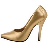 Oro Mate 13 cm SEDUCE-420 zapatos de salón puntiagudos