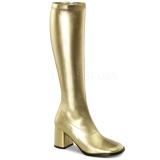 Oro Mate 8,5 cm GOGO-300 Botas de mujer para Hombres