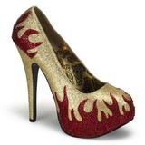 Oro Piedras Brillantes 14,5 cm TEEZE-27 Zapatos de tacón altos mujer