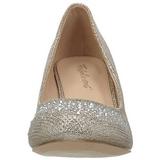 Oro Piedras Cristal 6,5 cm DORIS-06 Zapatos Salón Fiesta con Tacón