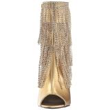 Oro Polipiel 10 cm QUEEN-100 botines tallas grandes