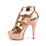 Oro Polipiel 15 cm DELIGHT-658 Zapatos pleaser con tacones altos