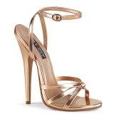 Oro Rosa 15 cm Devious DOMINA-108 sandalias de tacón alto