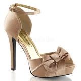 Oro Satinado 12 cm LUMINA-36 Zapato Sal�n de Noche con Tac�n