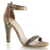 Oro Strass 11,5 cm CLEARLY-436 Sandalias Altos de Noche con Tacon