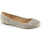 Oro TREAT-06 cristal piedra zapatos de bailarinas mujer planos