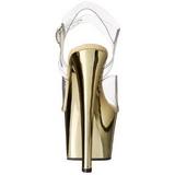Oro Transparente 18 cm SKY-308 Plataforma Tacones de Aguja