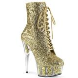 Oro brillo 15 cm DELIGHT-1020G botines con suela plataforma mujer