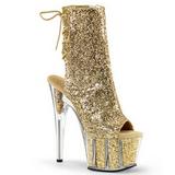 Oro brillo 18 cm ADORE-1018G botines con suela plataforma mujer