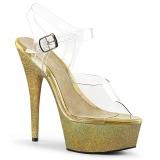 Oro purpurina 15 cm Pleaser DELIGHT-608HG Zapatos con tacones pole dance