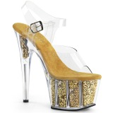 Oro purpurina 18 cm Pleaser ADORE-708G Zapatos con tacones pole dance
