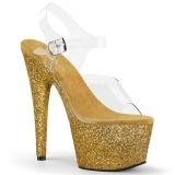 Oro purpurina 18 cm Pleaser ADORE-708HMG Zapatos con tacones pole dance