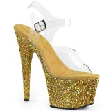 Oro purpurina 18 cm Pleaser ADORE-708LG Zapatos con tacones pole dance
