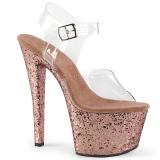 Oro purpurina 18 cm Pleaser SKY-308LG Zapatos con tacones pole dance