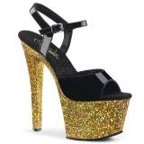 Oro purpurina 18 cm Pleaser SKY-309LG Zapatos con tacones pole dance