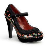 Patron de Cerezos 11,5 cm BETTIE-16 Plataforma Zapato de Salón Mary Jane