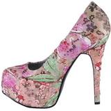 Patron de Flores 14,5 cm Burlesque TEEZE-06-6 Plataforma Zapatos de Salón