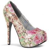 Patron de Flores 14,5 cm TEEZE-06-6 Plataforma Zapatos de Salón