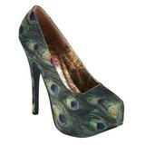 Patron de Pavo Real 14,5 cm Burlesque TEEZE-06-5 Plataforma Zapatos de Salón