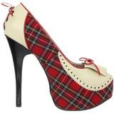 Patron de Tartan 14,5 cm Burlesque TEEZE-26 Zapatos de tacón altos mujer