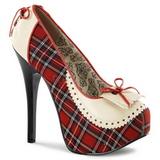 Patron de Tartan 14,5 cm TEEZE-26 Zapatos de tacón altos mujer