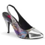Patrón de serpiente 10 cm DREAM-405 zapatos de tacón con tira trasera para travestis