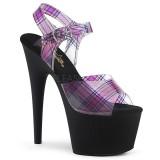 Patron de tartan 18 cm ADORE-708TAR Zapatos con tacones pole dance
