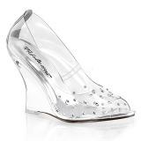 Piedras strass 10,5 cm LOVELY-420RS Zapato Salón con Tacón de Cuña