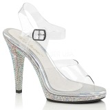 Piedras strass 12 cm FLAIR-408DM Zapatos para travestis