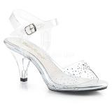 Piedras strass 8 cm BELLE-308SD Zapatos para travestis
