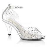 Piedras strass 8 cm BELLE-330RS Zapatos para travestis