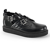 Piel 2,5 cm CREEPER-615 Zapatos de Creepers Hombres Plataforma